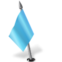 Map Marker Flag 2 Left Azure Icon