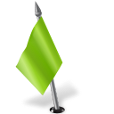 128x128px size png icon of Map Marker Flag 2 Left Chartreuse