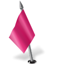 128x128px size png icon of Map Marker Flag 2 Left Pink