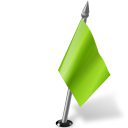 128x128px size png icon of Map Marker Flag 2 Right Chartreuse