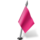 128x128px size png icon of Map Marker Flag 2 Right Pink