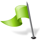 128x128px size png icon of Map Marker Flag 3 Left Chartreuse