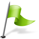128x128px size png icon of Map Marker Flag 3 Right Chartreuse