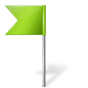 128x128px size png icon of Map Marker Flag 4 Left Chartreuse