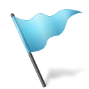 Map Marker Flag 5 Azure Icon