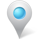 128x128px size png icon of Map Marker Marker Inside Azure