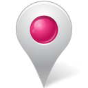 128x128px size png icon of Map Marker Marker Inside Pink