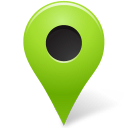 128x128px size png icon of Map Marker Marker Outside Chartreuse