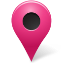 128x128px size png icon of Map Marker Marker Outside Pink