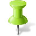 128x128px size png icon of Map Marker Push Pin 1 Chartreuse