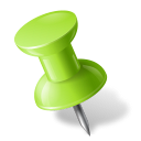 128x128px size png icon of Map Marker Push Pin 1 Left Chartreuse