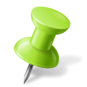 128x128px size png icon of Map Marker Push Pin 1 Right Chartreuse