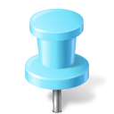 Map Marker Push Pin 2 Azure Icon