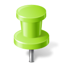 128x128px size png icon of Map Marker Push Pin 2 Chartreuse