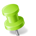 128x128px size png icon of Map Marker Push Pin 2 Left Chartreuse