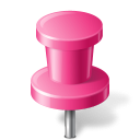 128x128px size png icon of Map Marker Push Pin 2 Pink