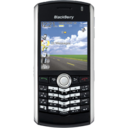 128x128px size png icon of BlackBerry Pearl black