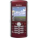 128x128px size png icon of BlackBerry Pearl red