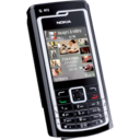 128x128px size png icon of Nokia N72 black