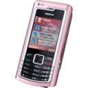 128x128px size png icon of Nokia N72 pink