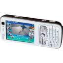 128x128px size png icon of Nokia N73 landscape