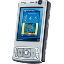 128x128px size png icon of Nokia N95 portrait