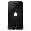 128x128px size png icon of iPhone Black Apple