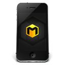 128x128px size png icon of iPhone Black Musett