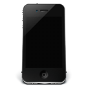 128x128px size png icon of iPhone Black Off