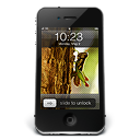 128x128px size png icon of iPhone Black W1