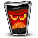 128x128px size png icon of iPhone Angry