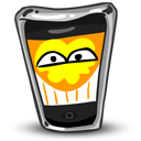 128x128px size png icon of iPhone Happy