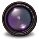 128x128px size png icon of Aperture 3 Authentic Purple