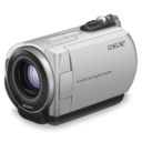 128x128px size png icon of sony handycam purple lens