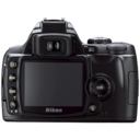128x128px size png icon of Nikon D40 back