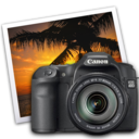 128x128px size png icon of eos 40d iphoto icon by darkdest1ny