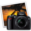 128x128px size png icon of nikon d40 iphoto icon by darkdest1ny