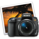 128x128px size png icon of sony a350 iphoto icon by darkdest1ny