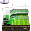 128x128px size png icon of soccer football stadium