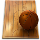 128x128px size png icon of basketball