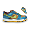 Nike Dunk Blue & Brown Icon