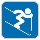 128x128px size png icon of Alpine Skiing 2