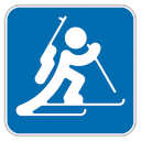 128x128px size png icon of Biathlon