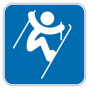128x128px size png icon of Freestyle Skiing Aerials