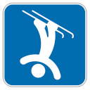128x128px size png icon of Freestyle Skiing