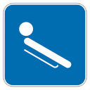 128x128px size png icon of Luge