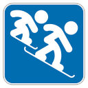 Snowboard Cross Icon