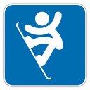 128x128px size png icon of Snowboard