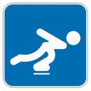 128x128px size png icon of Speed Skating