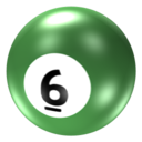 128x128px size png icon of Ball 6